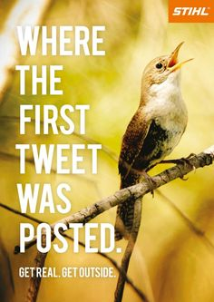 Where the first tweet was posted... Get real!