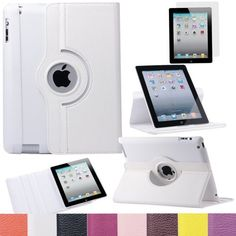 Pandamimi ULAK(TM) 360 Rotating Magnetic PU Leather Case Smart Cover For The New iPad 4 3 2 Generation Tablet with Screen Protector (White) by ULAK, http://www.amazon.com/dp/B00DOQOC7O/ref=cm_sw_r_pi_dp_lnn7rb1PWT6X6