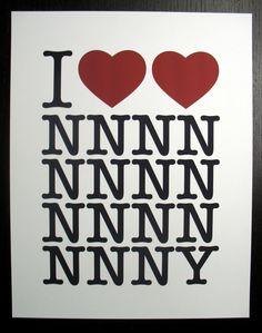 I <3 <3 NNNNNNNNNNNNNNNY Print