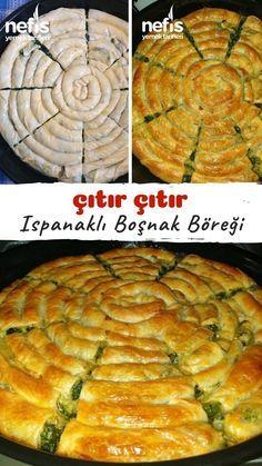 Ispanaklı Boşnak Böreği (Pita) Tarifi nasıl yapılır? 3.617 kişinin defterindeki bu tarifin resimli anlatımı ve deneyenlerin fotoğrafları burada.