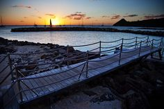 bridge sunset landings at Lucia