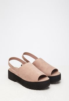 Faux Suede Slingback Sandals | Forever 21 - 2000131089