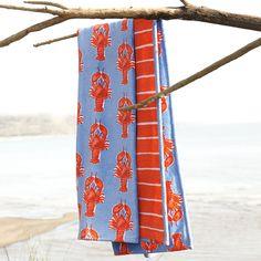 Lobster Beach Towel – Chambray/Tomato | Serena & Lily