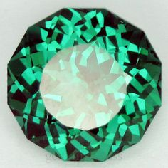 ❥GFC 11.30 Ct. Green Paraiba Tourmaline Round Faceted Loose Gemstone 12.5x7.7mm.