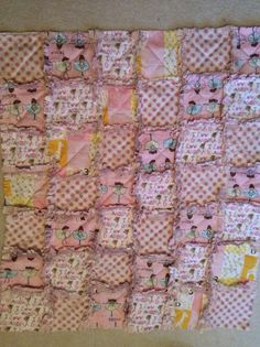 Baby Girl Rag Quilt  on Etsy, $56.49 CAD