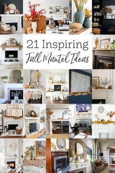 Beautiful and neutral fall decorating ideas. Cozy fall mantel decor inspiration. Click for more fall mantel decorating ideas and fall mantel decorations for every decor style. Fall mantel decorations with fire places. Cute and simple fall decor! Fall Fireplace Mantel, Painted Kitchen Island, Fall Mantel Decorations, Mantel Ideas, Decor Ideas, Craft Ideas, Farmhouse Mantel, Summer Mantel, Earthy Decor