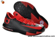 Latest Listing Cheap Nike Zoom KD 6 Low Kevin Durant Shoes Red Black 599424-806 Basketball Shoes Store