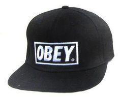 Obey Snapback Cheap Caps Hats Black by Obey 714105c5fae5