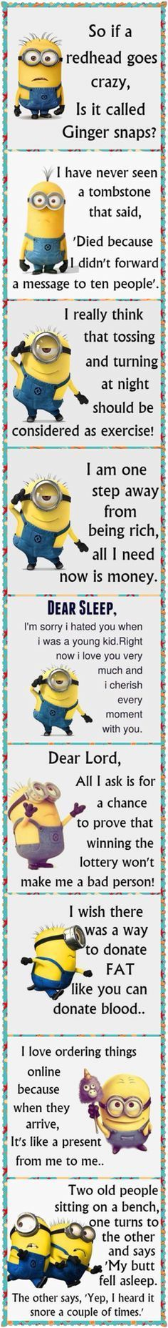 Minion funnies... - funnies, funny minion quotes, Minion, Minion Quote Of The Day - Minion-Quotes.com Minion Humour, Funny Minion Memes, Minions Quotes, Jokes Quotes, Funny Texts, Funny Quotes, Minion Sayings, Life Quotes, Epic Texts