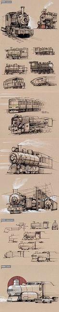 trains by minimallyminimal, via Flickr
