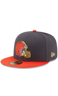 NFL Men s Cleveland Browns New Era Graphite Orange Gold Collection On Field 59FIFTY  Fitted Hat c09ae98ed
