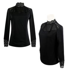 Casual Women Slim Long Sleeve Floral Embroidery Lace Crochet Tops T-Shirt Blouse | eBay
