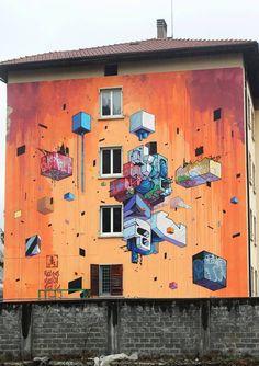 Etn!k - Italian Street Artist - Trento (IT) - 03/2015 -  \*/  #etnik #streetart
