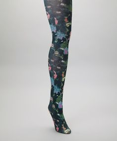 Take a look at this Black Watercolor Tights by Betsey Johnson on #zulily today!