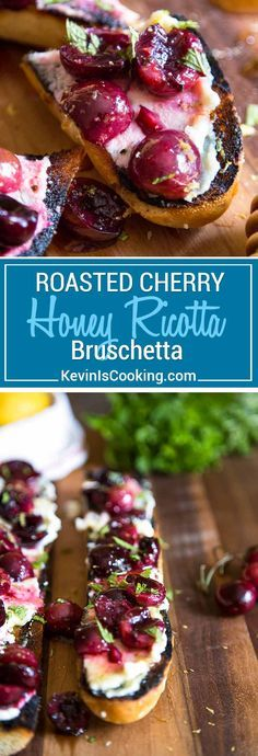 With this Summer's amazing cherry bounty I figured a twist on the traditional bruschetta was in order. This Cherry Ricotta Bruschetta does not disappoint and is so easy for your next BBQ, picnic or party appetizer! via @keviniscooking