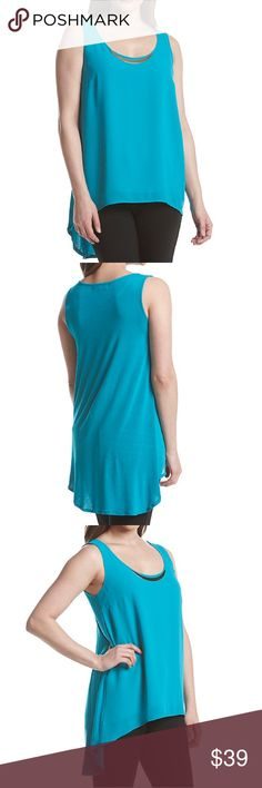 30% OFF BUNDLES Turquoise Bar Neck Hi-Lo Cami-NWT Turquoise Bar Neck Sleeveless Hi-Lo Cami - New with Tags. A curved hardware bar adds an elegant touch to the neckline of this sleeveless top made by August Silk. *Featured in turquoise *Scoop neck *Sleeveless *Curved hardware bar *Lined front *High-Low hem (front and back of top are different material) *Machine washable *Woven: polyester; Knit: rayon and spandex.     MSRP is $58. august silk Tops