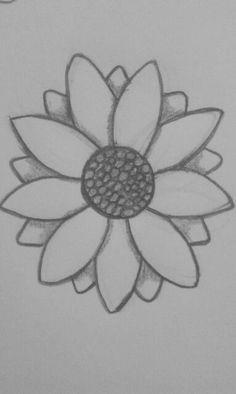 Art Sketches Easy – Art World 20 Easy Flower Drawings, Easy Drawings Sketches, Hipster Drawings, Cute Easy Drawings, Cool Art Drawings, Pencil Art Drawings, Easy Nature Drawings, Drawing Flowers, Doodles