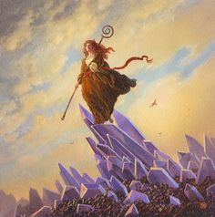 the art of michael whelan   ... seeks an augury omen of good fortune this time of year michael often