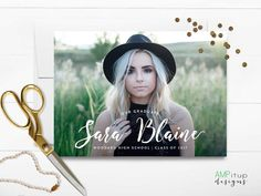 Name Graduation Announcement  Printable by AMPitupdesigns on Etsy