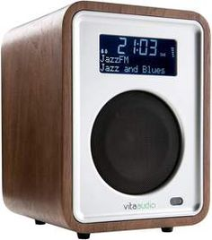 handcrafted wooden radio