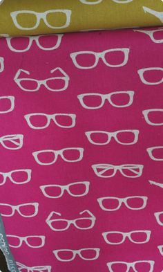 Specs design by Echino Linen Cotton (pink)