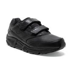 Brooks Addiction Walker V-Strap - Mens Walking Shoes - Black Wide Shoes, Black Shoes, All Black Sneakers, Addiction Help, Mens Walking Shoes, Walker Shoes, Rebounding, Dna, Stability