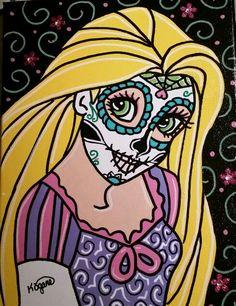 Disney Sugar Skull Tangled ○Kitty OGane ( My Art )