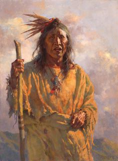 Howard Terpning, Wisdom From an Elder, oil, 30 x - Southwest Art Magazine Native American Movies, Native American Pictures, Native American Artwork, Native American Artists, American Indian Art, American Indians, Early American, American History, Howard Terpning