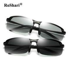 RoShari Driving Photochromic Sunglasses Men Polarized Chameleon  Discoloration Sun glasses for men eyeglasses gafas de sol 2bae45b967