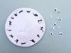 Ceramic, plate with cats