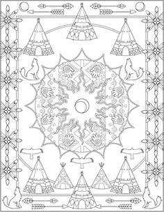 Welcome to Dover Publications - CH Native American Designs Abstract Coloring Pages, Horse Coloring Pages, Pattern Coloring Pages, Coloring Sheets For Kids, Mandala Coloring Pages, Colouring Pages, Adult Coloring Pages, Free Coloring, Coloring Books