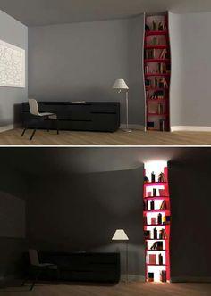 Backlit Bookshelve