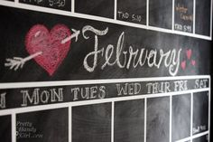 DIY Chalkboard Calendar Kit Set of Lines to Make Your Own Calendar - Leen the Graphics Queen