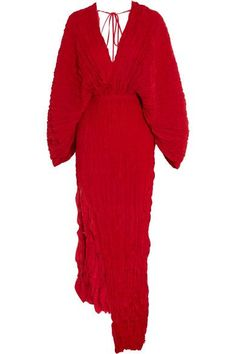 Juan Carlos Obando - Crinkled Plissé-silk Maxi Dress - Red - US12