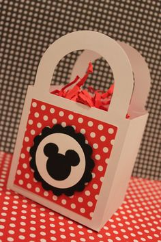 12x Minnie Mouse Favor Boxes - Birthday Party/Baby Shower