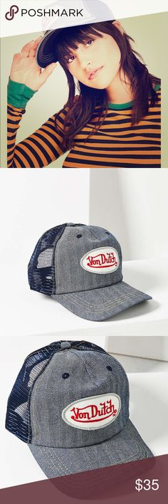 0e81cb15343f8 Vintage Von Dutch trucker hat Snap back trucker hat by Von Dutch. Brand new  in package! Bought from Urban Outfitters.