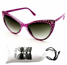 Wm513-vp Thin Frame Cateye Vintage Retro Sunglasses