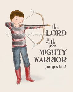 archery boy scripture art print by willowofwonder on Etsy Scripture Art, Bible Verses, Little Boys, My Boys, Fight The Good Fight, Archery, Inspire Me, Tattoos For Guys, God