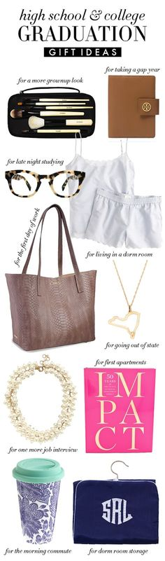 Graduation Gifts - College Prep ~I'd definitely need the planner/journal, coffee container and professional wear.