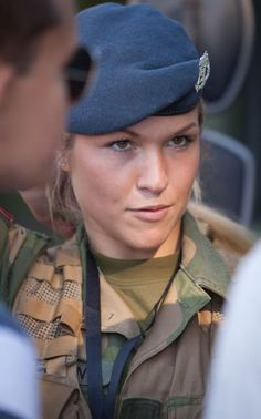 There's something really hot about a girl in uniform that will do whatever it takes to defend her country. There's something really hot about a girl in uniform that will do whatever it takes to Norwegian Army, Norwegian Royalty, Gorgeous Women, Amazing Women, Beautiful, Combat Gear, Female Soldier, Army Soldier, Military Women