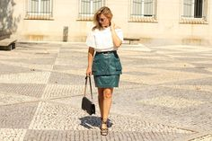 Coco and Jeans: Military Green with a Romantic Blouse