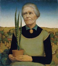 Grant Wood (Iowa, USA, 1891-1942) - Woman with Plants 1929