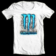 Monster Energy 2 airbrush tshirt Adult and kid by StreaksandBlurs, $12.00