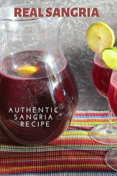 This an Authentic Sangria Recipe for Spanish Sangria with brandy. It makes a delicious Real Sangria with burgundy wine in a glass pitcher. Make a Pitcher of Spanish Sangria with Brandy Spanish Sangria Recipe, Best Sangria Recipe, Red Sangria Recipes, Red Sangria By The Glass Recipe, White Sangria Recipe With Brandy, Portuguese Sangria Recipe, Simple Sangria Recipe, Sangria Margarita Recipe, Margarita Party