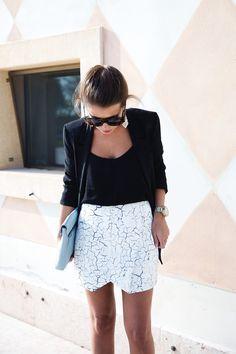 Cracked Effect Skirt - Collage Vintage