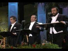 PLACIDO DOMINGO 1994 Finiculi funicula, los 3 tenores Coliseum de los Angeles California, USA