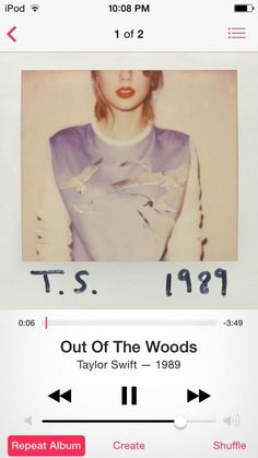 "Taylor Swift, you truly outdid yourself with this amazing song!!! Out Of The Woods is definitely anxious! It just left you guessing with each lyric sang! Throughout the whole song, I was like, ""Oh my gosh, what's going to happen next?"" It's a thriller and it's heart racing! Anxiety! She mastered that eliminate!"