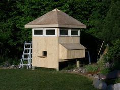Awesome chicken coop. The windows at the top are perfect for ventilation in the summer months.