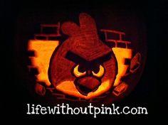 Angry Birds pumpkin carving tutorial #angrybirds #halloween #pumkincarving
