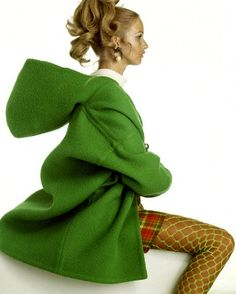 1960s Coat with hood - this is the best hood ever!!!
